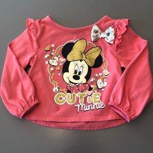 "Disney Minnie Mouse ""Cutie Minnie"" Tee"